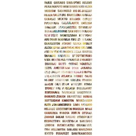 WORDS PANORAMIQUE AROUND THE WORLD MULTICOULEURS